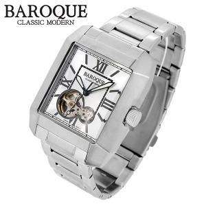 BAROQUE バロック QUADRO クアドロ ウォッチ(シルバー) BA2004S-04M 腕時計 ステンレスベルト レクタンギュラー バロック クアドロ ウォッチ|ginnokura
