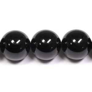 天然石ビーズ ブラックスピネル 8mm 丸玉 8玉セット パワーストーン 天然石ビーズ ブラックスピネル 粒売り プレゼント|ginnokura