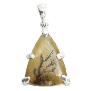 デンドリチッククォーツ シルバーペンダントトップ 天然石 パワーストーン デンドライト プレゼント|ginnokura