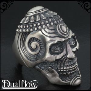 シルバーリング メンズ スカル revere skull 9-28号 ブランド Dualflow シルバー925 メンズリング|ginnokura