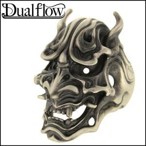 シルバーリング メンズ 般若 怒面 9-28号 ブランド Dualflow シルバー925 メンズリング|ginnokura