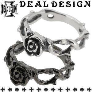 ディールデザイン DEAL TEARS リング 指輪 メンズ レディース シルバー ケーブルローズ 薔薇 バラ 1-23号 ブランド...