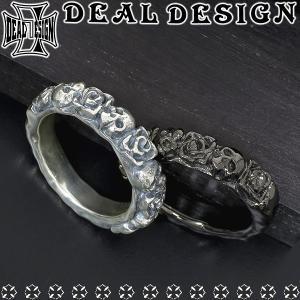 ディールデザイン DEAL TEARS リング 指輪 メンズ レディース シルバー ラフィンローズ 薔薇 スカル 5-17号 ブランド...