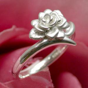 シルバーリング レディース 一輪の薔薇 7-13号 人気 指輪 ローズ オシャレ かわいい 可愛い|ginnokura