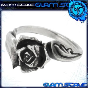 シルバーリング メンズ イヴォルバー 薔薇 7-15 ブランド GLAM SCALE 指輪