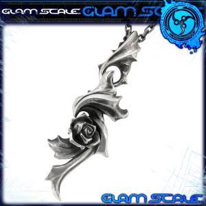 シルバーペンダントトップ メンズ イヴォルバー 薔薇 ブランド GLAM SCALE チェーンなし