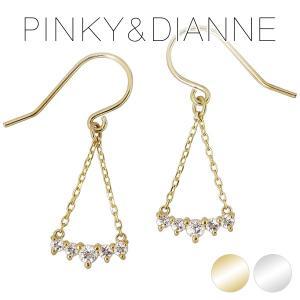 ピンキー&ダイアン ピアス レディース pinky&dianne ホワイトトパーズ 揺れる 10金 ゴールド ブランド プレゼント 女性|ginnokura