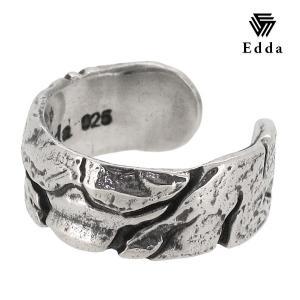 イヤーカフ メンズ イヤーカフス シルバー クラック 1P ブランド Edda シルバー925 ピアス メンズ|ginnokura