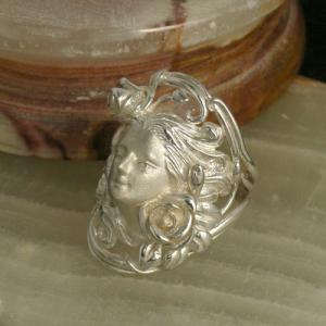 シルバーリング メンズ レディース 花の女神 クロリス 7-23号 ブランド 指輪 シルバー925 ...