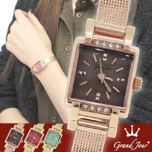腕時計 レディース ブランド GJ73 ブラウン ピンクゴールド レディース腕時計|ginnokura