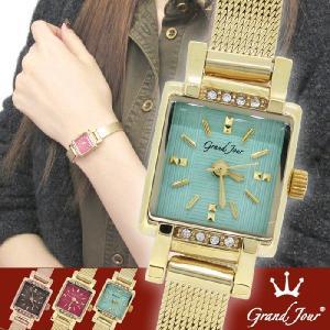 腕時計 レディース ブランド GJ73 グリーン ゴールド レディース腕時計|ginnokura