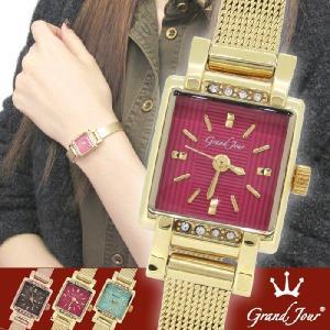 腕時計 レディース ブランド GJ73 レッド ゴールド レディース腕時計|ginnokura