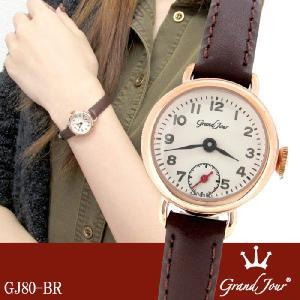 腕時計 レディース ブランド GJ80 スモールセコンド レザーベルト レディース腕時計|ginnokura