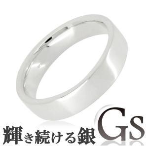 シルバーリング レディース 刻印 GS 平打ち 5-12号 指輪|ginnokura