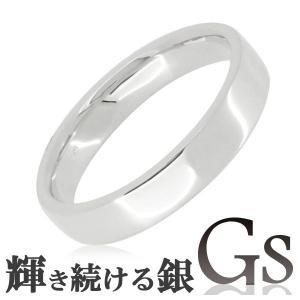 シルバーリング メンズ 刻印 GS 平打ち 13-21号 指輪|ginnokura