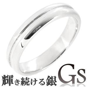 シルバーリング メンズ 刻印 GS ライン 13-19号 指輪|ginnokura