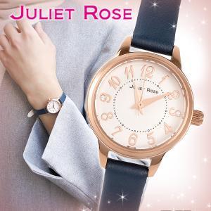 JULIET ROSE JUL-406シリーズ ピンクゴールド ネイビー レディースウォッチ 天然ダイヤモンド レザーバンド ブレスレット シンプル 時計|ginnokura