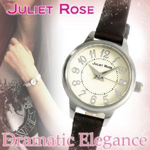 JULIET ROSE JUL-406シリーズ シルバー ダークブラウン レディースウォッチ 天然ダイヤモンド レザーバンド ブレスレット シンプル 時計|ginnokura