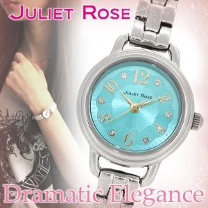 腕時計 レディース おしゃれ ブランド ジュリエットローズ JUL-501S ヴィオラ ターコイズカラー 腕時計 プレゼント 女性|ginnokura