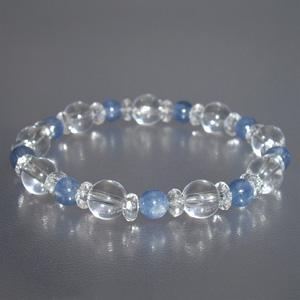 カイヤナイト ブレスレット 水晶 6mm 17.5cm 天然石 パワーストーン カイヤナイトブレスレット プレゼント|ginnokura