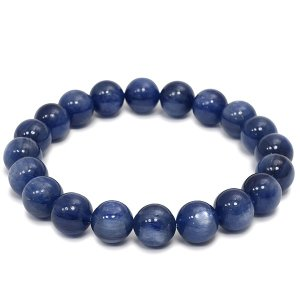 カイヤナイト ブレスレット 10mm 19cm 高品質 天然石 パワーストーン カイヤナイトブレスレット プレゼント|ginnokura