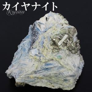 カイヤナイト パイライト フックサイト 原石 共生 ブラジル ミナスジェライス 産 約181g 天然石 パワーストーン カヤナイト 鉱物 鉱石 プレゼント|ginnokura