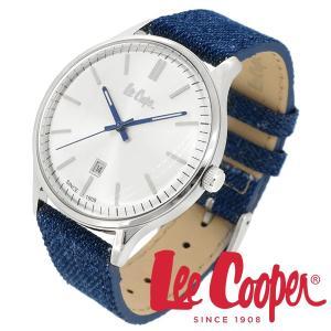 Lee Cooper リークーパー 腕時計 メンズ ブランド デニム レザーベルト ネイビー LC06290.339 時計 Lee Cooper リークーパー|ginnokura