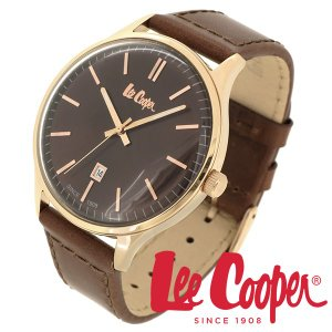 Lee Cooper リークーパー 腕時計 メンズ ブランド 本革ベルト ブラウン ローズゴールド LC06290.442 時計 Lee Cooper リークーパー|ginnokura
