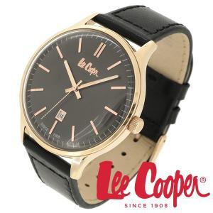 Lee Cooper リークーパー 腕時計 メンズ ブランド 本革ベルト ブラック ローズゴールド LC06290.451 時計 Lee Cooper リークーパー|ginnokura