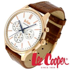 Lee Cooper リークーパー 腕時計 メンズ ブランド クロノグラフ 本革ベルト ローズゴールド 時計 Lee Cooper リークーパー|ginnokura