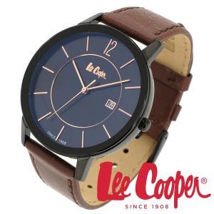 Lee Cooper リークーパー 腕時計 メンズ ブランド 本革ベルト ブラック ゴールド LC06326.652 時計 Lee Cooper リークーパー|ginnokura