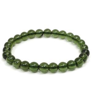 モルダバイト ブレスレット 高品質 7.2mm 18cm 天然石 パワーストーン プレゼント 腕輪 数珠|ginnokura