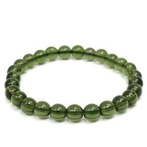 モルダバイト ブレスレット 高品質 6.8mm 17.5cm 天然石 パワーストーン プレゼント 腕輪 数珠|ginnokura