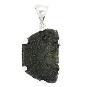 モルダバイト ペンダントトップ シルバー 原石 天然石 パワーストーン プレゼント ペンダント ネックレストップ ヘッド|ginnokura