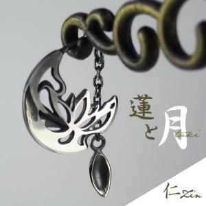 シルバーピアス メンズ レディース ロータス 蓮 月 tuki ブランド ピアス シルバー|ginnokura