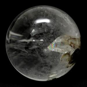 天然水晶玉 天然 虹入り 貫入水晶 丸玉 約55mm 天然石...