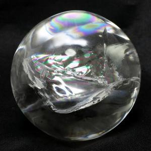 天然水晶玉 最高級 天然 虹入り水晶 丸玉 約46mm 天然...