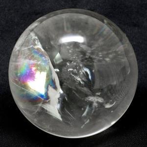 天然水晶玉 最高級 天然 虹入り水晶 丸玉 約53mm 天然...