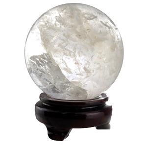 天然水晶 丸玉 約90mm 天然石 パワーストーン 水晶 置...
