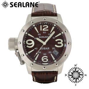 腕時計 メンズ ブランド シーレーン SE32 ブラウン 牛本革ベルト メンズ腕時計|ginnokura