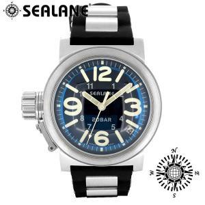 腕時計 メンズ ブランド シーレーン SE51 ブルー ラバーベルト メンズ腕時計|ginnokura