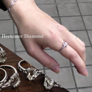 ハーキマーダイヤモンド リング 原石 1.0-1.5ct 指輪 レディース シルバー 一粒 11-14号 クォーツ 誕生石 4月 天然水晶 ギフトBOX クリスマスプレゼント|ginnokura