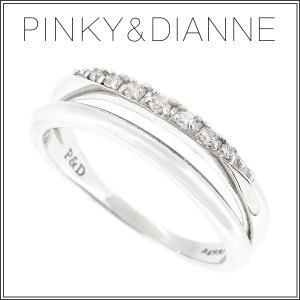 ピンキー&ダイアン リング 指輪 レディース シルバー ジルコニア ダブルライン 8-14号 ピンキーアンドダイアン|ginnokura