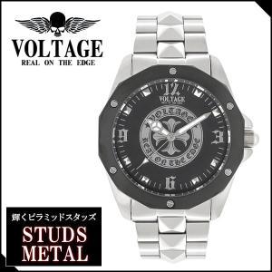 腕時計 メンズ ブランド スタッズメタル ゴシッククロス メタルバンド VOLTAGE メンズ腕時計|ginnokura