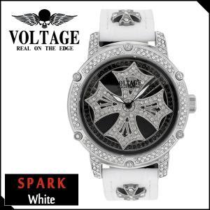 腕時計 メンズ ブランド スパーク ホワイト ダブルレイヤースピン クロス VOLTAGE メンズ腕時計 ginnokura