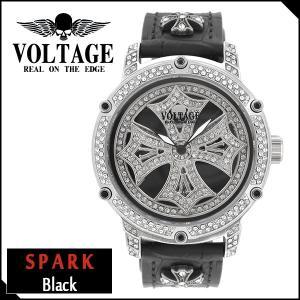 腕時計 メンズ ブランド スパーク ブラック ダブルレイヤースピン クロス VOLTAGE メンズ腕時計 ginnokura