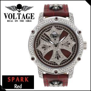 腕時計 メンズ ブランド スパーク レッド ダブルレイヤースピン クロス VOLTAGE メンズ腕時計 ginnokura
