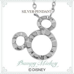 ディズニー ネックレス ミッキー シルエット デコボコ ミッキーマウス シルバー Disney ディズニーネックレス disney_y|ginnokura