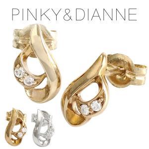ピンキー&ダイアン ピアス レディース pinky&dianne ダイヤモンド キャンドル 10金 ゴールド ブランド プレゼント 女性|ginnokura