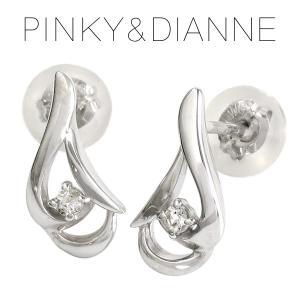 ピンキー&ダイアン ピアス レディース pinky&dianne ホワイトトパーズ キャンドル 10金 ゴールド ブランド プレゼント 女性|ginnokura